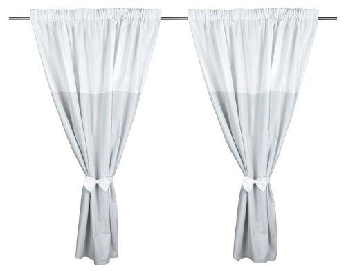 cortinas de habitacin de beb pack x coleccin lneas grises vizaro