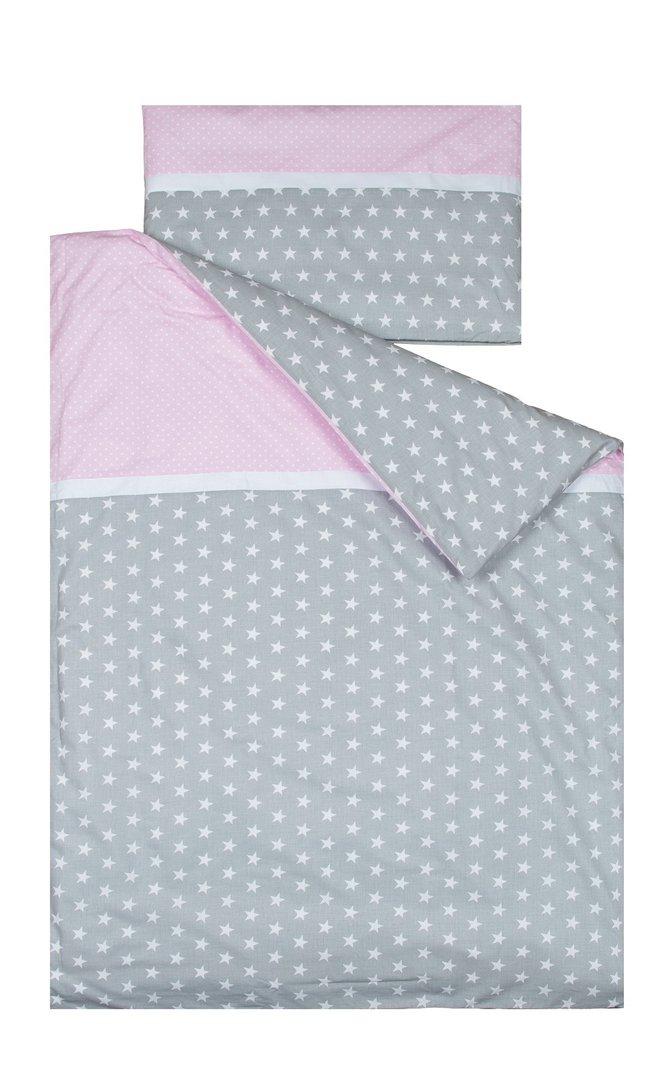 Funda n rdica para cama colecci n estrellitas banda rosa for Funda nordica cama 80