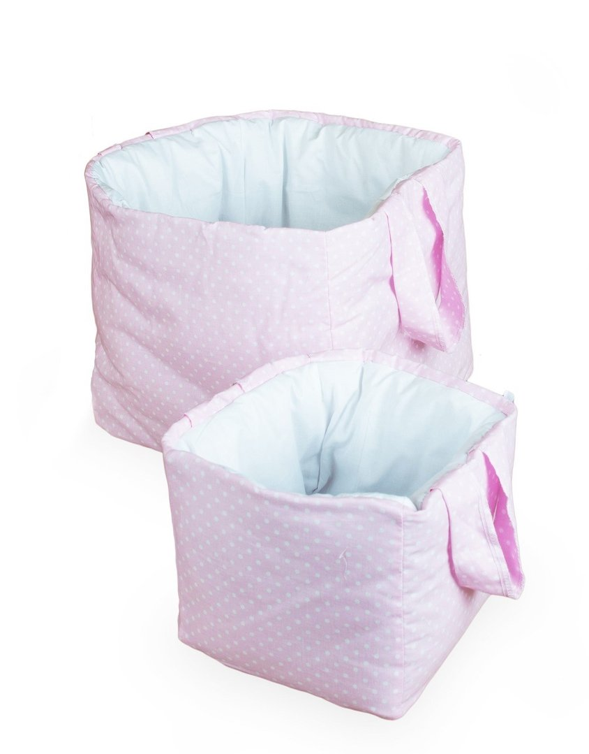Cestas decorativas pack 2 colecci n rosa y blanco - Cestas decorativas ...