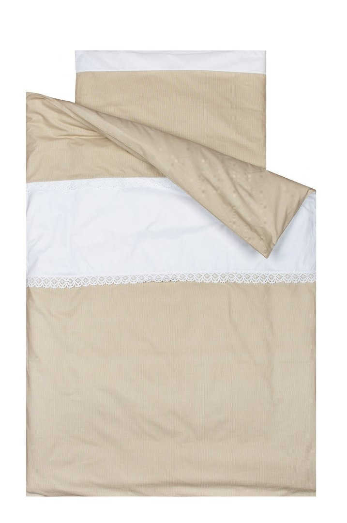 Funda n rdica para cama colecci n bordado l neas beige for Funda nordica cama 80
