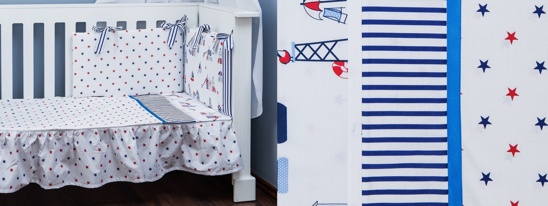 Cot Bed Bumper And Duvet Cover Set Beach Huts Collection