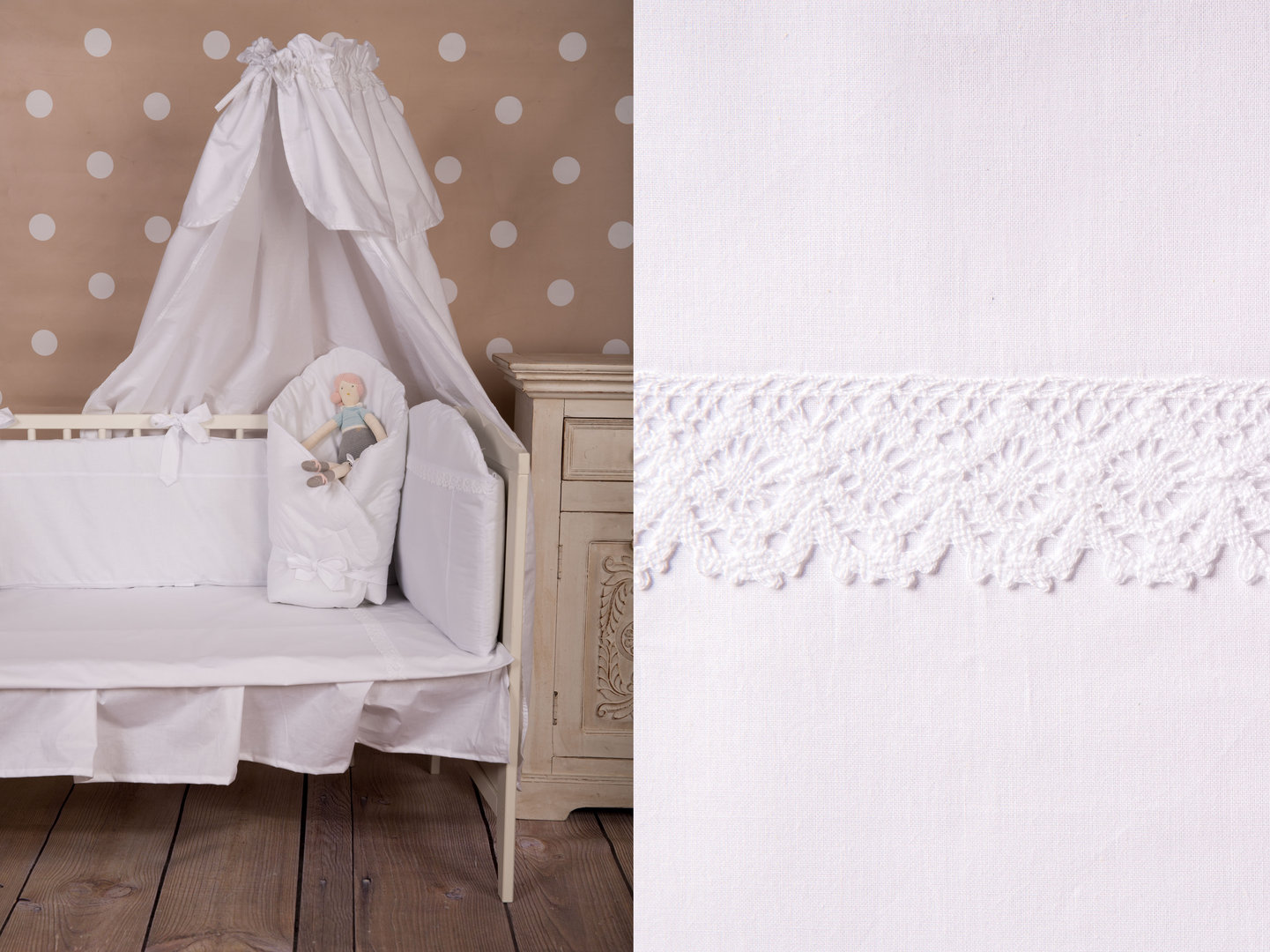 Duvet Cover Bedding Set For Cot Bed White Lace Collection