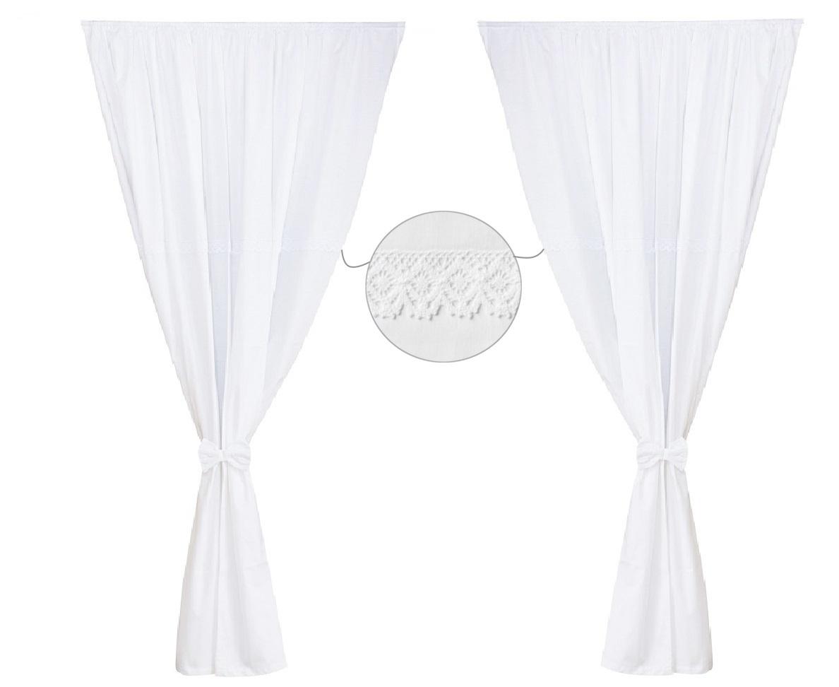 Cortinas de habitaci n de beb x 2 colecci n bordado for Cortinas en blanco
