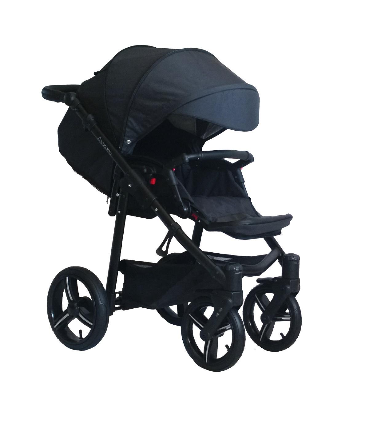 Vizaro onyx negro chasis negro kit 2 en 1 capazo y silla for Capazo y silla 2 en 1