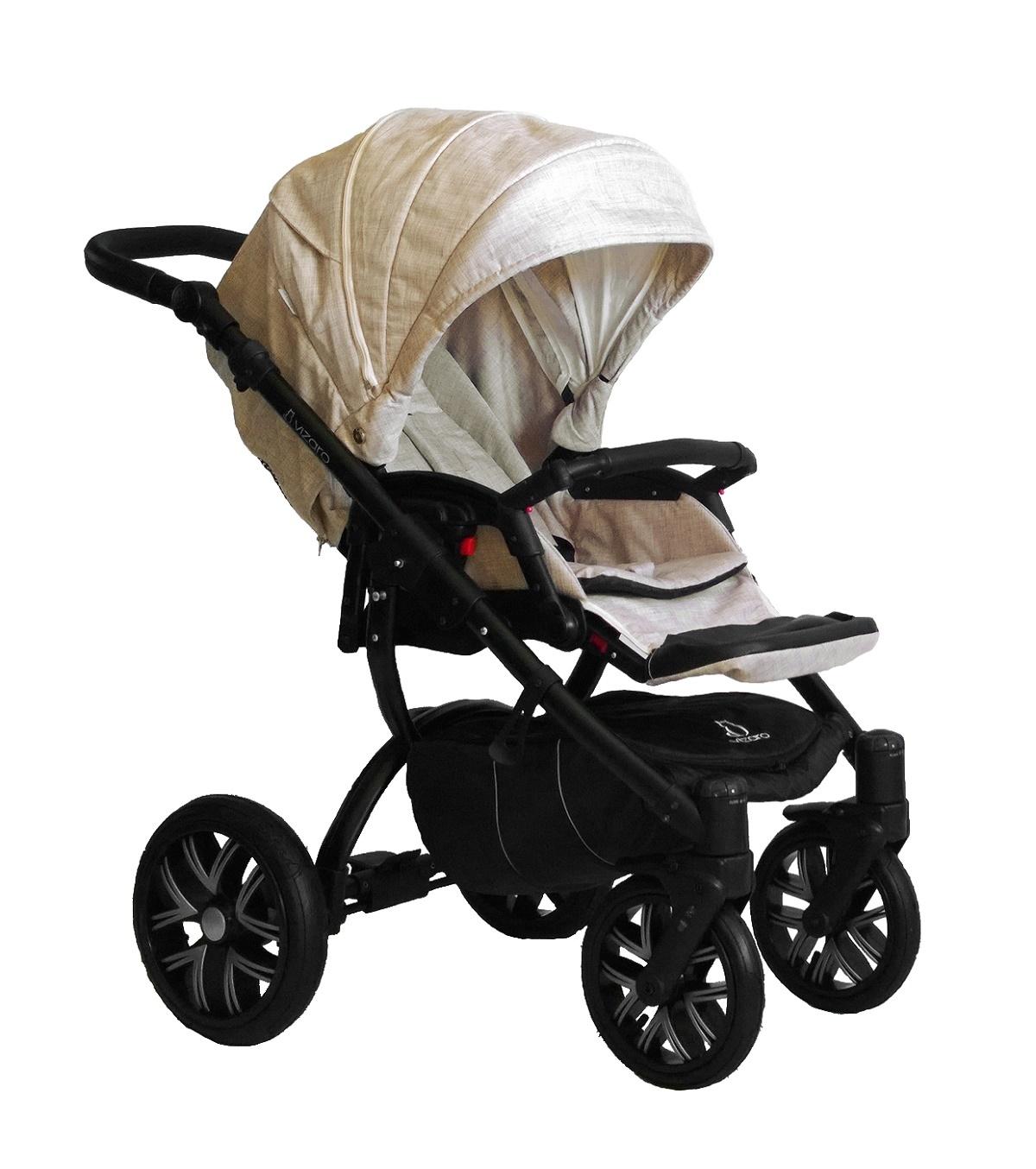 Vizaro pearl beige denim chasis negro s lo silla de paseo for Capazo y silla 2 en 1