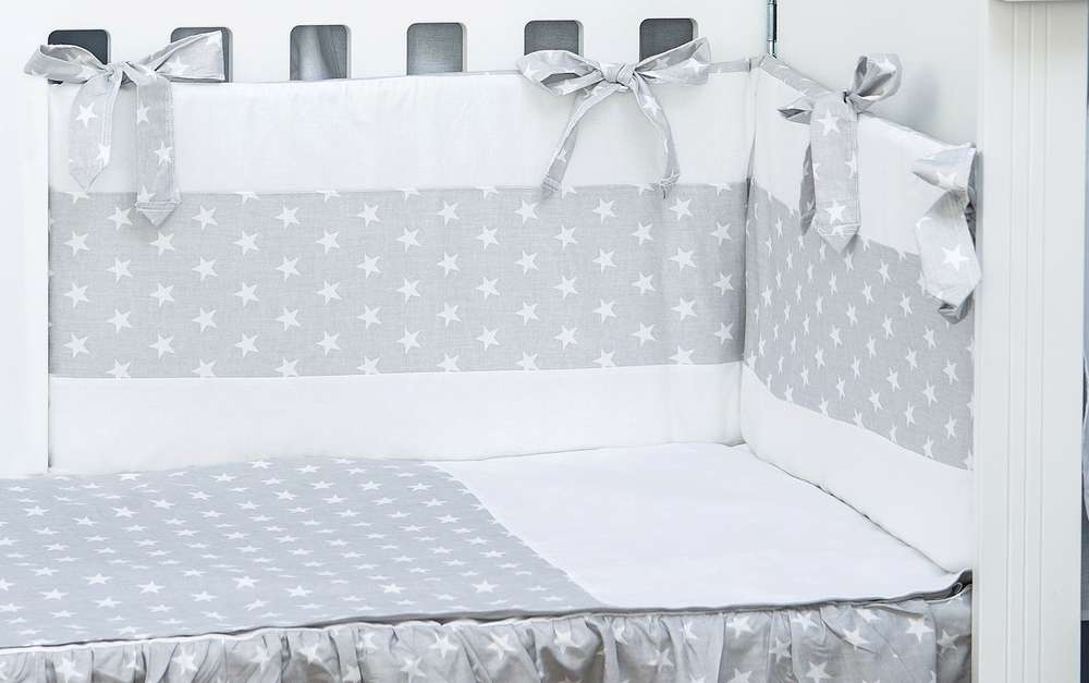 Funda Nordica One Piece.Cot Bumper And Duvet Cover Set Little Stars Collection