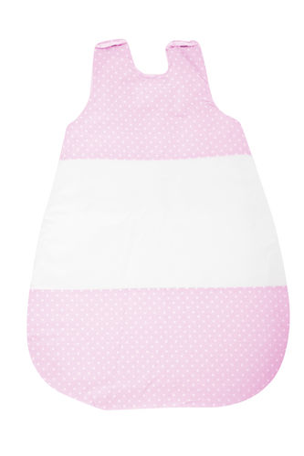 Sleeping bag (0-4 Months) -  2,5 Tog - Pink & White Collection