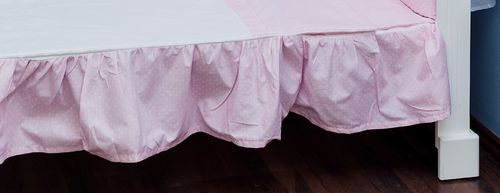 Valance sheet for Cot - Pink & White Collection - Vizaro