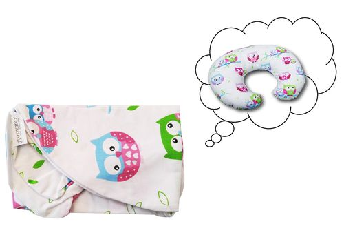 Pillowcase for Nursing Pillow - Little Owls Collection - Vizaro