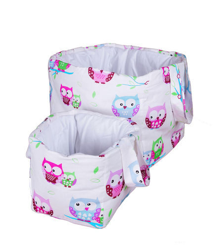 Padded Storage Baskets (2 pieces set) - Little Owls Collection - Vizaro