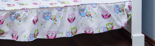 Valance sheet for Cot - Little Owls Collection - Vizaro