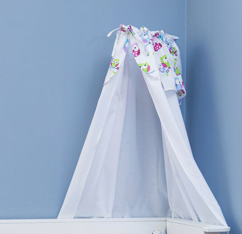 Canopy with holder for baby cot - Little Owls Collection - Vizaro