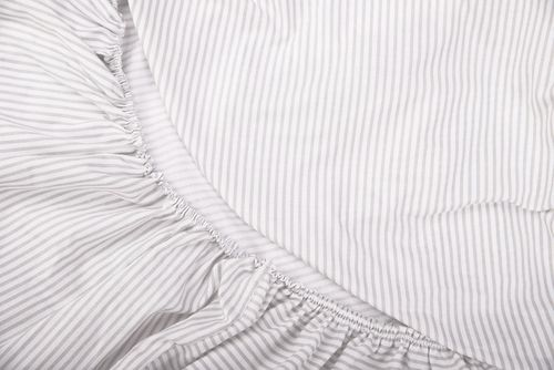 Fitted sheet for Cot Bed - Grey Stripes Collection - Vizaro