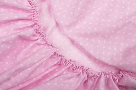 Fitted Sheet for Cot Bed - Pink & White Collection - Vizaro