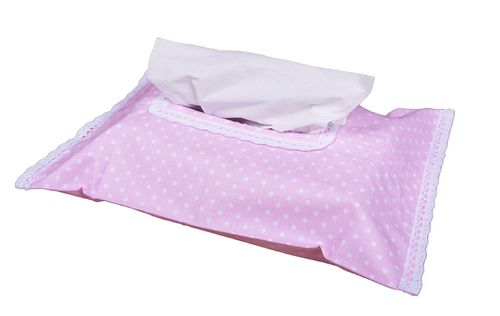 Baby Wipes Case Cover - Pink & White Collection - Vizaro