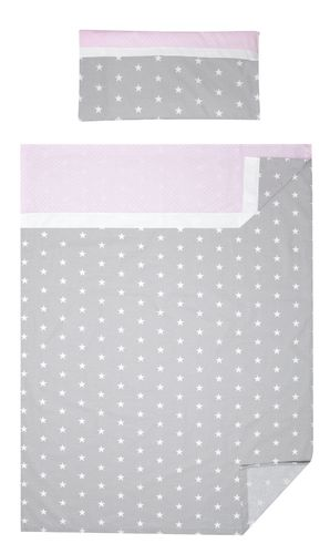 3 piece Bedding Set of Sheets for Cot Bed - Polka Dots and Stars Collection - Vizaro