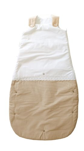 Sleeping Bag (4-36 Months) -  2,5 Tog - Beige Stripes with Lace Collection