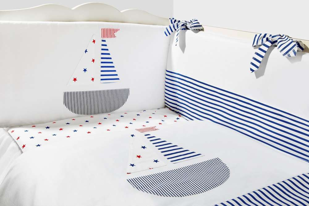 Funda Nordica One Piece.Cot Bed Bumper Duvet And Duvet Cover 5 Pieces Set Sailing