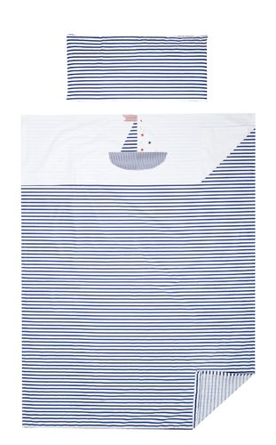 3 Piece Bedding Set of Sheets for Cot Bed - Little Sailing Boat Collection - Vizaro