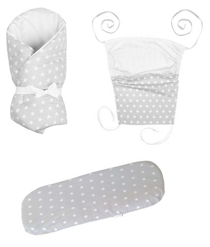 Baby Pram Set- 3 Pieces Set - Little Stars Collection - Vizaro