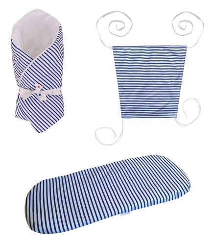Baby Pram Set- 3 Pieces Set - Little Sailing Boat Collection - Vizaro