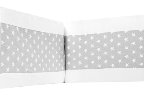 Padded Bumper for Cot Bed - Little Stars Collection - Vizaro