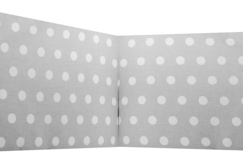 Padded Bumper - Polka Dots Collection - White & Grey - Vizaro