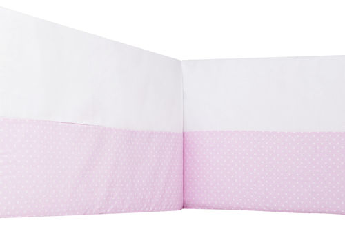 Padded Bumper Cot Bed - Pink & White Collection - Vizaro