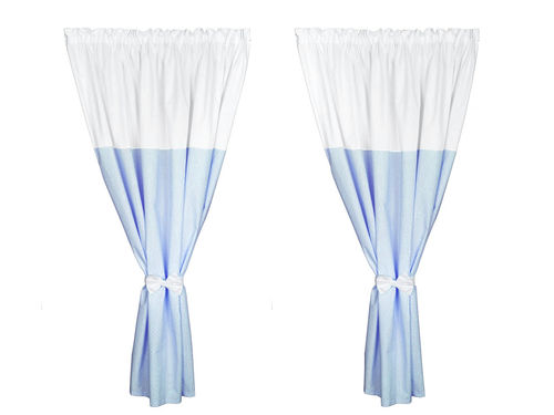 Curtains for baby room (2x) - Blue & White Collection - Vizaro