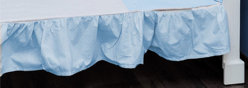 Valance sheet for Cot Bed - Blue & White Collection - Vizaro
