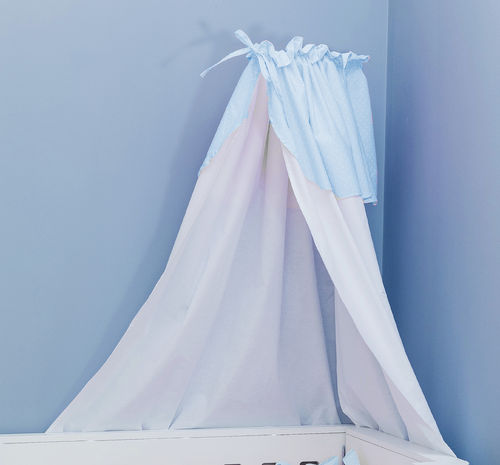Canopy with holder for baby cot - Blue & White Collection - Vizaro