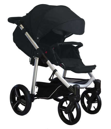 Vizaro Onyx - Black & Silver Chassis - ONLY Pushchair