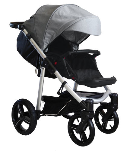 Vizaro Onyx - Light Grey & Silver Chassis - ONLY Pushchair