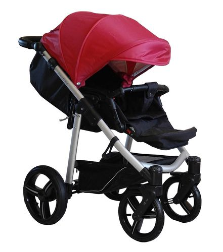 NEW! Vizaro Onyx - Red & Silver Chassis - ONLY Pushchair