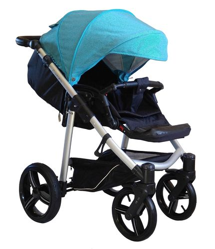 NEW! Vizaro Onyx - Turquoise & Silver Chassis - ONLY Pushchair