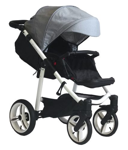 Vizaro Onyx - Light Grey & White Chassis - ONLY Pushchair