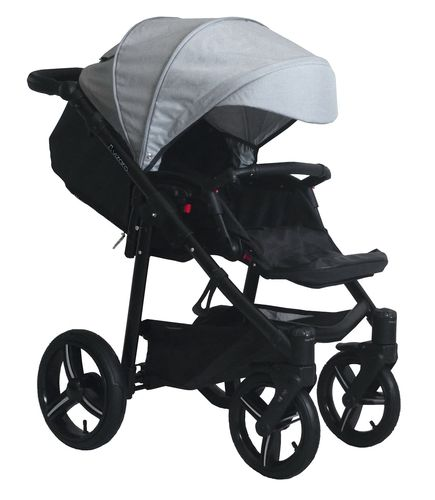 Vizaro Onyx - Light Grey & Black Chassis - ONLY Pushchair