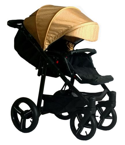 Vizaro Onyx - Beige & Black Chassis - ONLY Pushchair