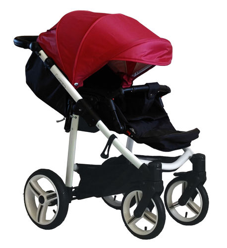 NEW! Vizaro Onyx - Red & White Chassis - ONLY Pushchair
