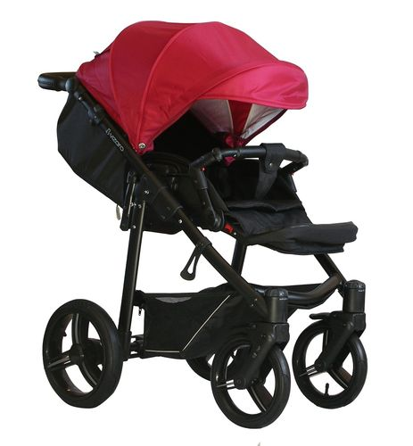 NEW! Vizaro Onyx - Red & Black Chassis - ONLY Pushchair