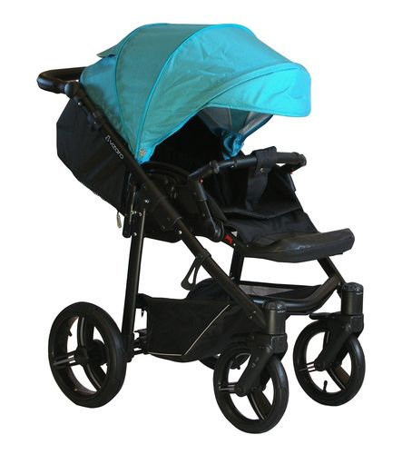 NEW! Vizaro Onyx - Turquoise & Black Chassis - ONLY Pushchair